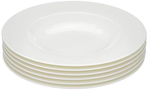 (Villeroy & Boch Royal 24cm Premium Bone Porcelain Soup Plates Set of 6, White, 25x 25x 9.2cm 6Units)
