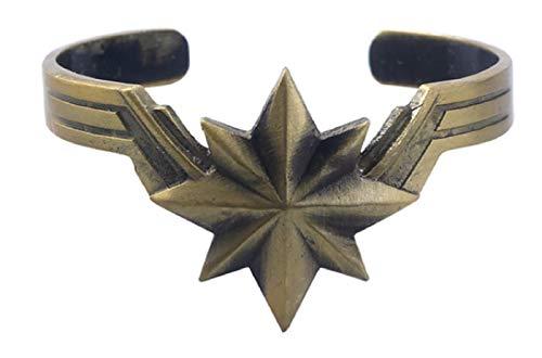 (New Horizons Production Captain Marvel Avengers Antique Brass Metal Cuff Bracelet)