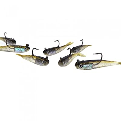 Andoer 10Pcs 70mm 6g Soft Bait Fishing Lures Lead Jig Head Fish Tackle Sharp Hook