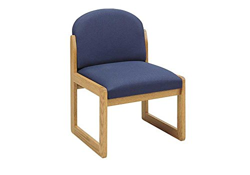 (Round Back Armless Guest Chair Dimensions: 23