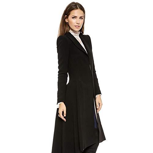 Digital baby Simple Metal Lapel Suit Cufflinks Fold Wool Coat Tails(Black,XXL(Thick Wool Coat)) by Digital baby (Image #3)