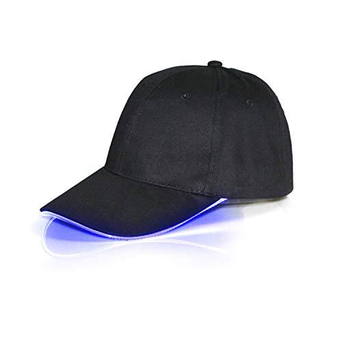 (Dalina LED Hat, Multicolor LED Fiber Optic Illuminated Lights Light Stage Performance Tide Lighted Glow Club Sports Athletic Travel Tour Hat Baseball Bar Party Flash White Cap)