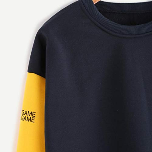 Maglietta Tumblr Felpa Felpe Shirt Rosso Pullover Felpa Manica Taglie Ragazza T Camicetta Forti Top Donna Stampa Elegante Donna con Cappuccio Invernali Lunga gaqa54Rw
