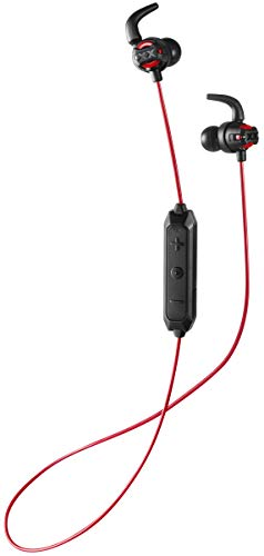 JVC Deep Bass Wireless Xtreme Xplosives Headphones with Remote and Mic - HAET103BTR (Red), (Model: HA-ET103BTR)