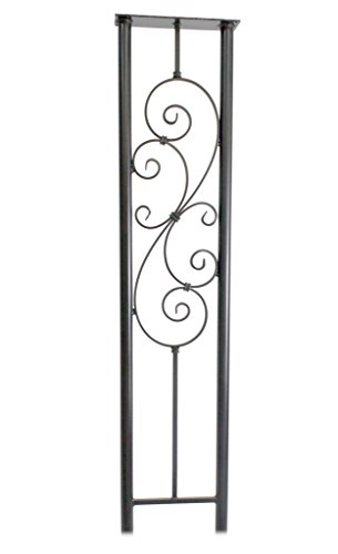 Bella Scroll Hand Forged Iron Mailbox Stand -