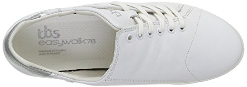 TBS Technisynthese Orrelie - Zapatos Mujer Blanco - Blanc (Blanc/Gris Métallique)