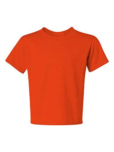 Jerzees Youth 5.6 oz., 50/50 Heavyweight Blend T-Shirt, Small, BURNT ORANGE (Youth Blend Jerzees Heavyweight)
