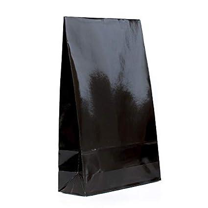 Bolsa negra para el suelo, brillante, de papel, con base de ...