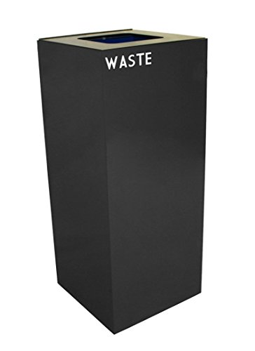 - Witt Industries 36GC03-CB GeoCube Recycling Receptacle with Waste Opening, Steel, 36 gal, Charcoal