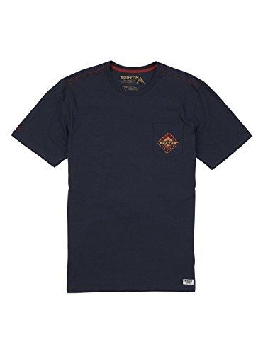Burton Anchor Point Short Sleeve Tee, Mood Indigo, (Burton Blue Shirt)