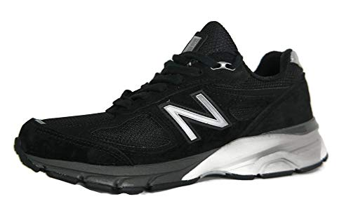New Balance Men's M990BK4 Running Shoe, Black/Silver, 9 4E US