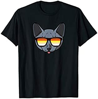 Russian Blue Cat Mom Sunglasses, Gay Pride Month T-shirt | Size S - 5XL