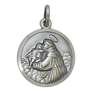 St anthony medal 18 mm diameter sterling silver st anthony medal st anthony medal 18 mm diameter sterling silver st anthony medal st antony medal aloadofball Choice Image