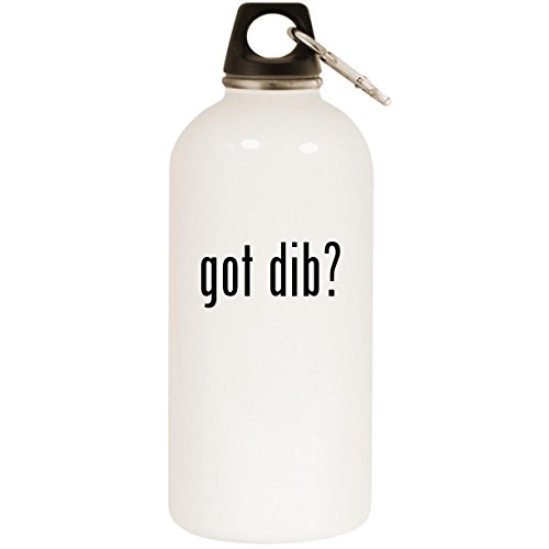 Molandra Products got DIB? - White 20oz Stainless Steel Water Bottle with Carabiner