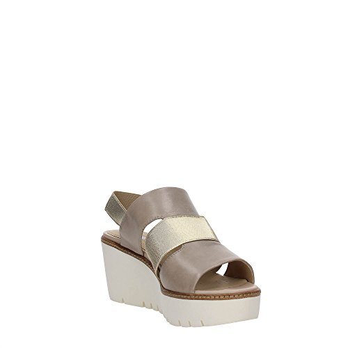 Geox D721XB000LC Zapatos De Cuña Mujer LT TAUPE/LT GOLD