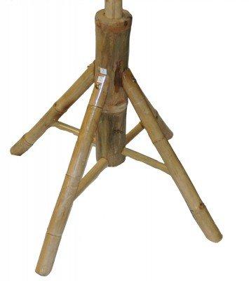 Amazon Com Bamboo Sturdy Umbrella Stand For Patio Or Beach