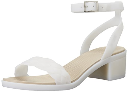 crocs Women's Crocs Isabella Block Heel, Oyster, 10 M -