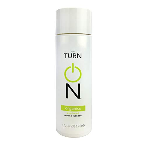 Turn On All Natural Aloe-Based Organic Lube, Paraben-Free, Glycerin-Free, Natural Lube, 8 Ounce Bottle, Personal Lubricant