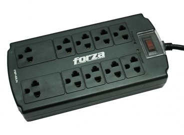 Forza Power Strip 10-Outlet Surge Protector Circuit Breaker 110-220V