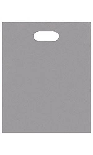 Medium Low Density Gray Merchandise Bags - Case of 1,000 by STORE001