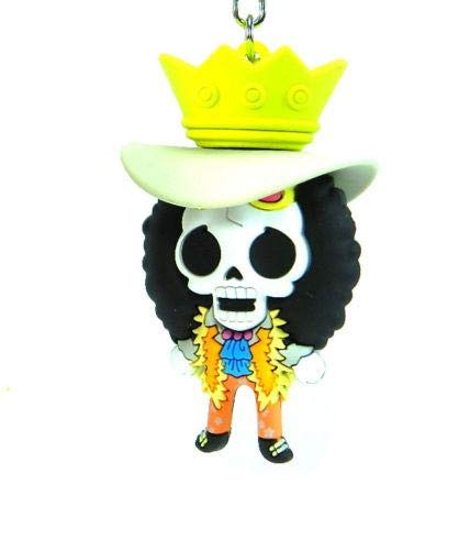Llavero One Piece Brook Monogram Goma Anime Manga 7 cm ...