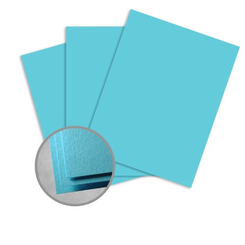 Astrobrights Lunar Blue Paper - 8 1/2 x 14 in 60 lb Text Smooth 30% Recycled 500 per (Blue 60lb Text)