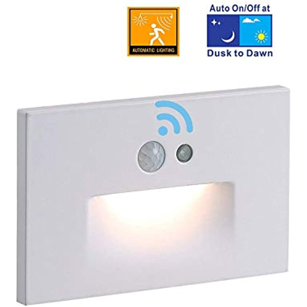 Cloudy Bay 120v Motion Sensor Led Step Light With Auto