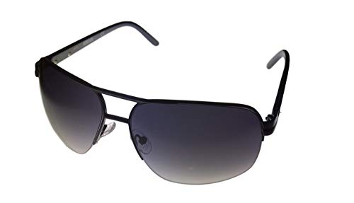 Kenneth Cole Reaction Rimless Sunglass Silver Black With Black Bar/Black Temples/Smoke Gradient Lenses KC1126 10B