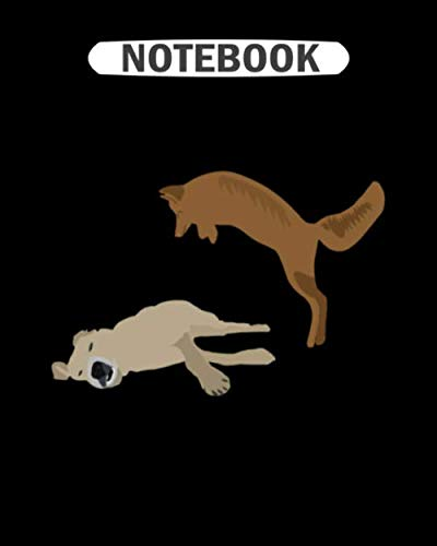 Notebook: the quick brown fox jumps over the lazy dog  College Ruled - 50 sheets, 100 pages - 8 x 10 inches