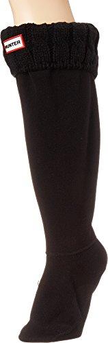 Fleece Boot Socks - Hunter Women's 6 Stitch Boot Sock, Black, Medium