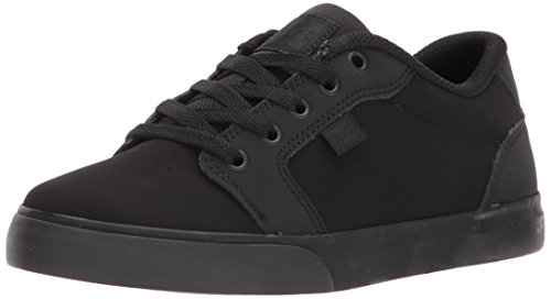 DC Youth Anvil Skate Shoe, Black/Black, 12.5 M US Little Kid