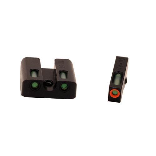 Tru Glo Truglo Brite-Site TFX Pro, Sight, fits Glk 17,17L,19,22,23,24,26,27,33,34,35,38,39, Tritium/Fiber-Optic, Day/Night Sight, 24/7 Brightness, Orange Ring on Front Sight