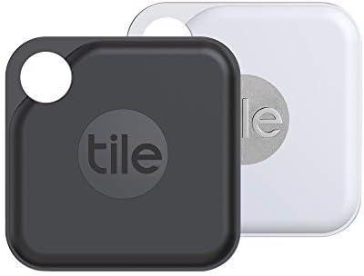 Tile Pro (2020) Lot de 2 localisateurs d'article Bluetooth, Noir/Blanc. Portée de...