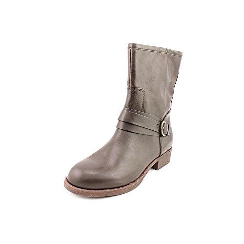 Lätt Anda Kvinna Yarona Läder Mandel Tå Ankel Mode Stövlar Mörkbrunt Läder