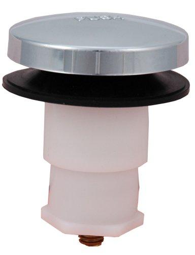 Bathtub Drain Plug Drain Stopper, Tip-Toe Bath Plunger (5/16 Inch, Chrome)