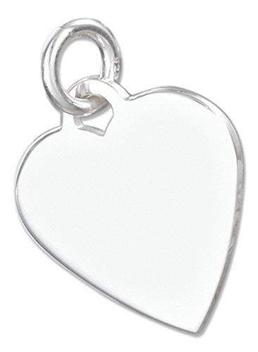 - Sterling Silver High Polish Engravable Heart Charm
