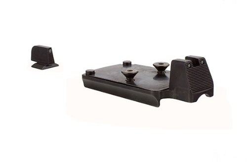 Trijicon RMR Mount with Integrated Night Sight Set for Colt 1911 with Black Front/Black Rear Outline, Orange