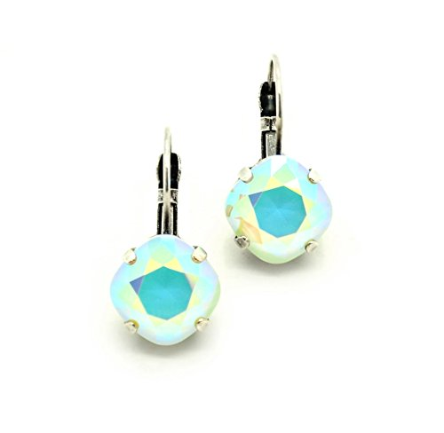 powder-green-ab-12mm-crystal-cushion-cut-drop-earrings-swarovski-elements-pick-your-finish-karnas-de