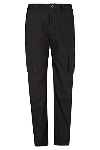 Mountain Warehouse Trek Mens Outdoor Trousers -Fast Dry Pants Black 38