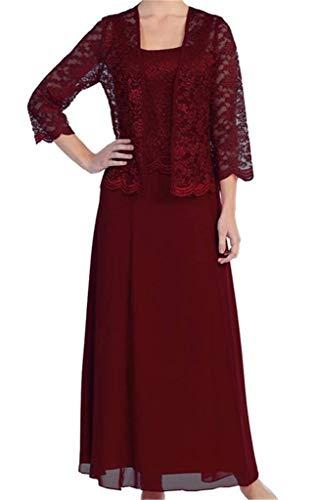 Frauen Bolero der Braut Kleider Burgund Mutter mit Lange schnüren Kleid HWAN Formale Jacke gqPH4xH