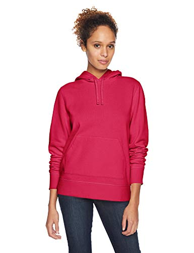 Amazon Essentials Women's French Terry Fleece Pullover Hoodie Sweater, -dark pink, Small (Pullover Hoodies Pink)