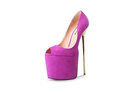 PURPLE EU47 Mujer A Heisimei Super código HeiSiMei pez Black 40 50 8 22 EU49 cm Zapatos metal ZRww1HxB