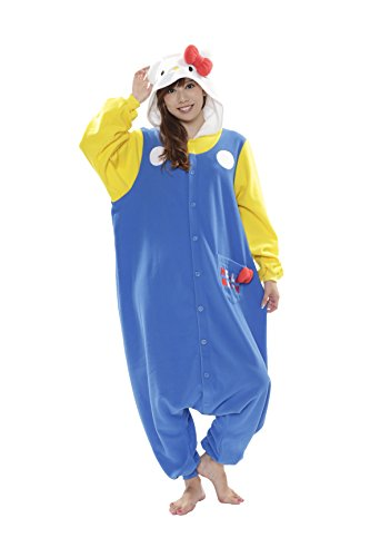 [70'S Hello Kitty Kigurumi (Adults)] (Hello Kitty Costume For Adults)