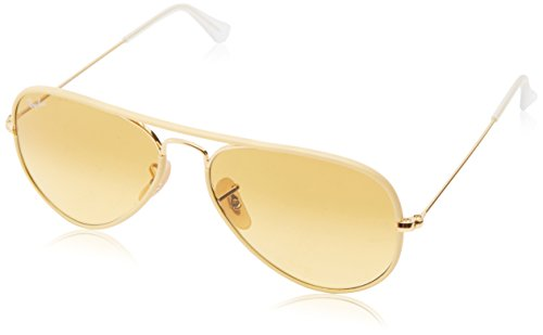Ray-Ban AVIATOR FULL COLOR - ARISTA Frame YELLOW GRADIENT BROWN PHOTO Lenses 55mm - Ray Ban Photos