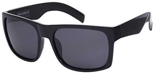 Edge I-Wear Men's Big and Tall Polarized Square Frame Sunglasses 540987-P-1 - Sunglasses Big And Tall