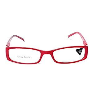 Readers.com The Sophie Colorful, Lightweight, Rectangular Reading Glasses, Rectangle, Full Frame Readers for Women + 2.25 Red (Microfiber Cleaning Carrying Pouch Included)