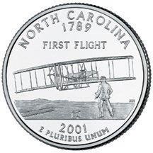 2001 D North Carolina State Quarter Choice Uncirculated