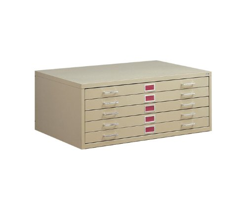 Mayline C-Files 5 Drawer Flat Files Metal Cabinet - White by Mayline
