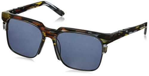 Pared Eyewear Day and Night Black Multi with Gunmetal Rim Wire Square Sunglasses, Cookies Cream, 21 - Sunglasses Pared