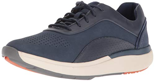 CLARKS Women's Un Cruise Lace Sneaker, Navy Nubuck/Leather Combi, 90 M US (Clarks Wave Womens)